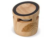 Houten look speaker 3W & draadloos laadstation 5W