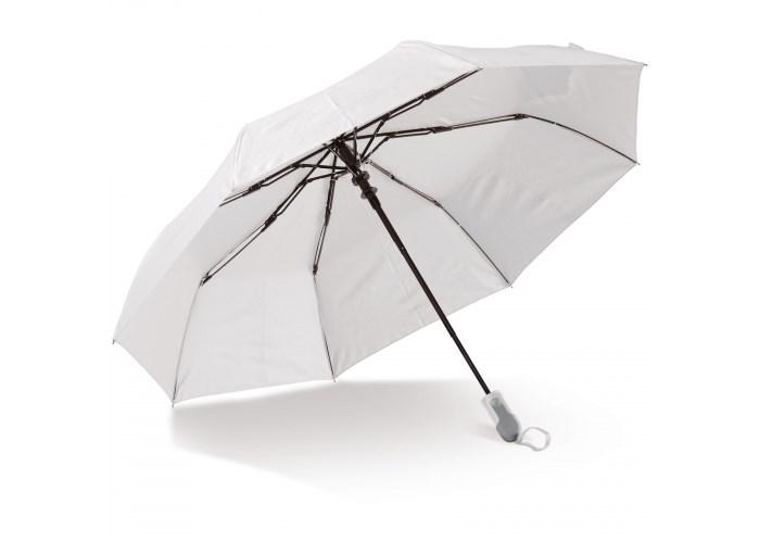 "Opvouwbare 21"" paraplu auto open (alleen wit)"