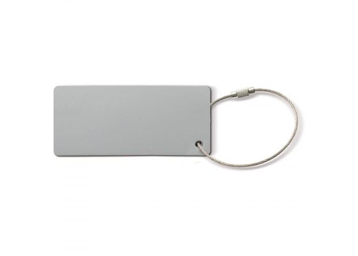 Aluminium bagagelabel rechthoek