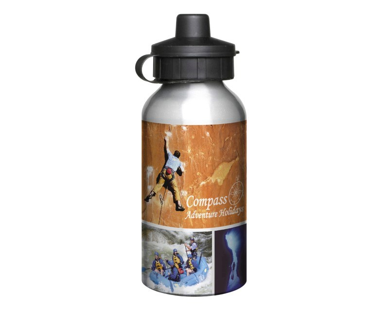 Aluminium 400ml Silver Drink Bottle