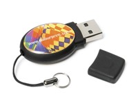 Epoxy Oval USB FlashDrive Rood
