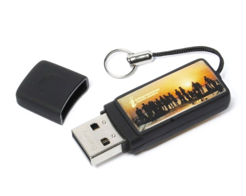 Epoxy Rectangle USB FlashDrive Zilver