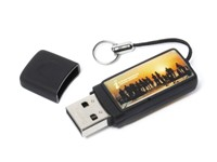 Epoxy Rectangle USB FlashDrive Zwart