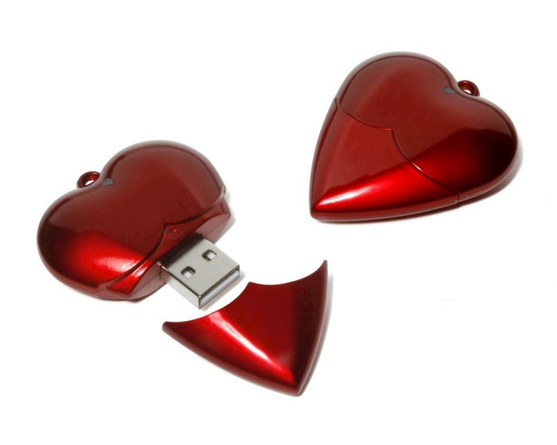 Heart USB FlashDrive Zilver