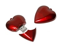 Heart USB FlashDrive Blauw