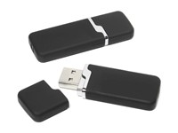 Rubber 4 USB FlashDrive Zilver