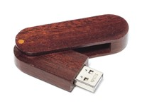Wood Twister USB FlashDrive Licht Bruin