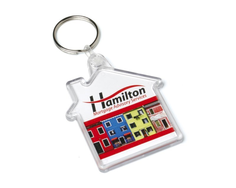 Acrylic House Keyfob 53x62mm