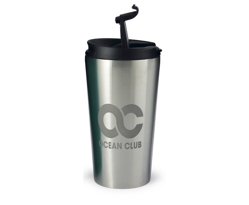 Rio Etched Travel Mug - Wit