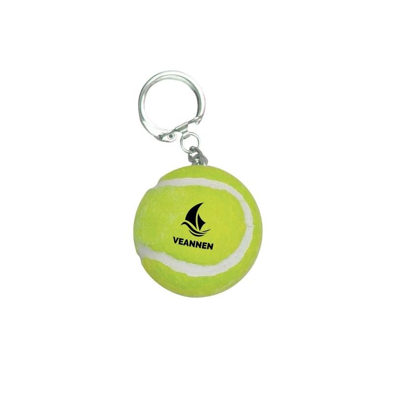 Tennisbal sleutelhanger geel