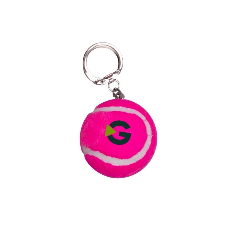 Tennisbal sleutelhanger gekleurd