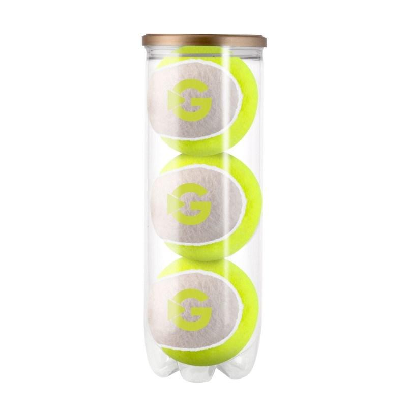 Tube duo-tone tennisballen