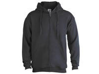 Volwassene Hooded + Rits Sweatshirt
