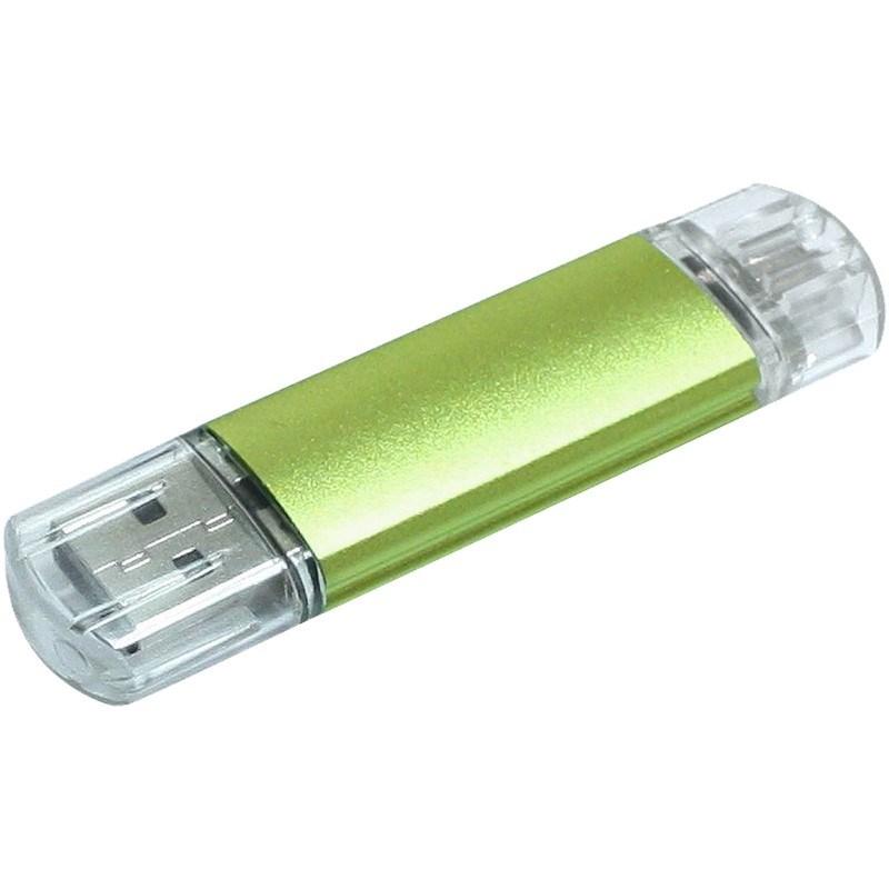 Aluminium On-the-Go (OTG) USB-stick