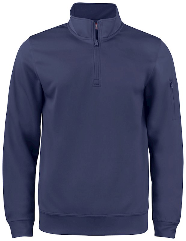 Clique Basic Active Half Zip dark navy m