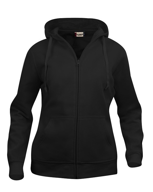 Clique Basic Hoody Full zip ladies zwart s