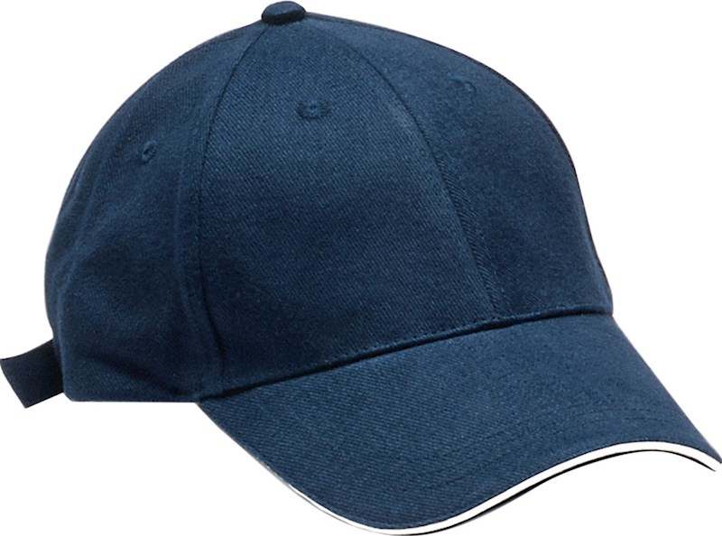Clique Davis 6-panel sandwichcap navy/wit kids