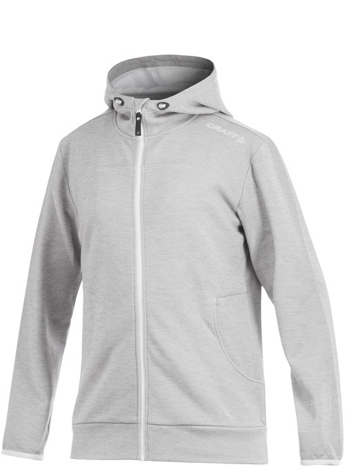 Craft Leisure Full Zip Hood Men grey melange L