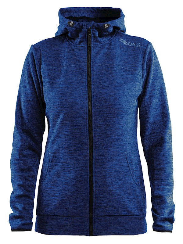 Craft Leisure F.Z Hood Wmn deep melange xl