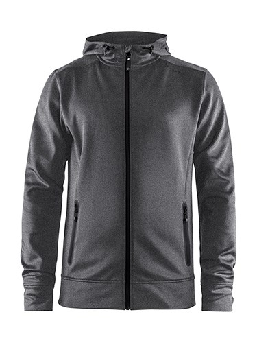 Craft Noble full zip hood men dk grey mel. 3xl