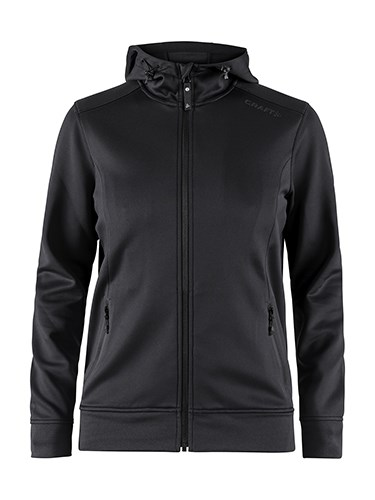 Craft Noble full zip hood wmn black xxl