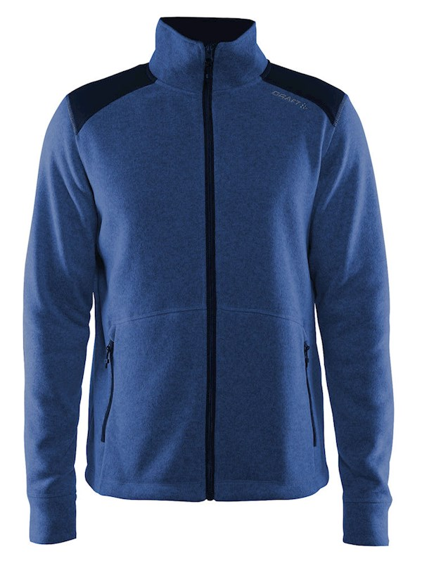 Craft Noble zip jkt heavy knit fleece men deep xl