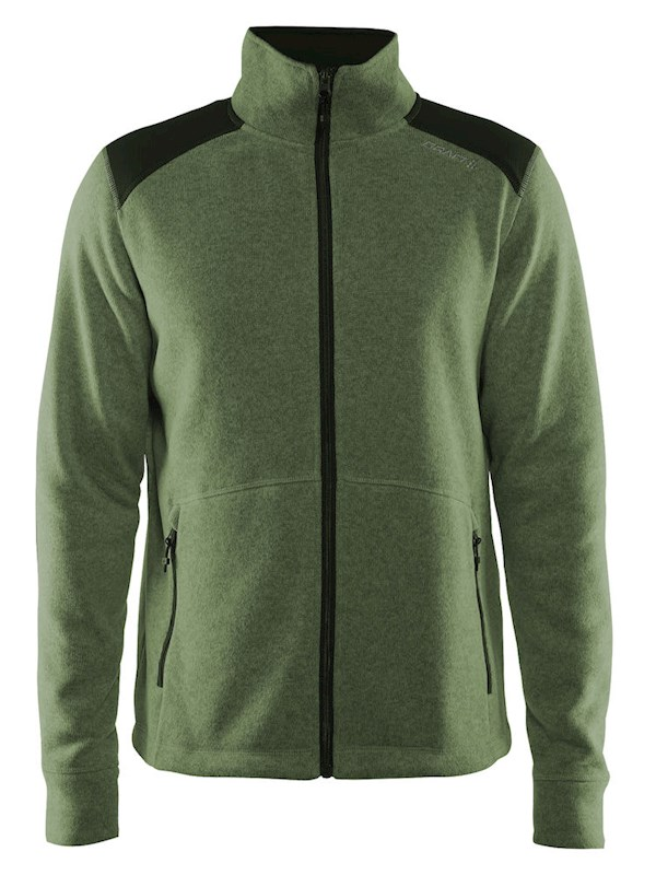 Craft Noble zip jkt heavy knit fl. men dark forest xl