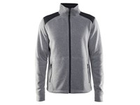 Craft Noble zip jkt heavy knit fl. men grey melange m