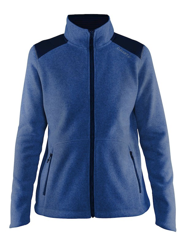 Craft Noble zip jkt heavy knit fleece wmn deep l