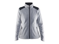 Craft Noble zip jkt heavy knit fleece wmn grey melange l