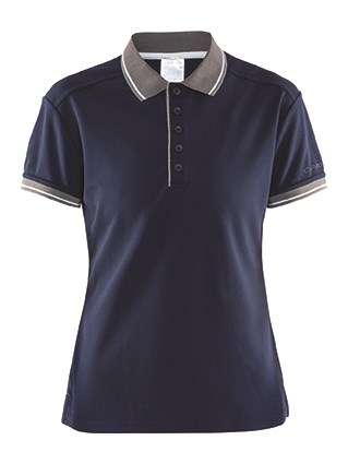 Craft Noble polo pique shirt wmn navy/da.grey xs