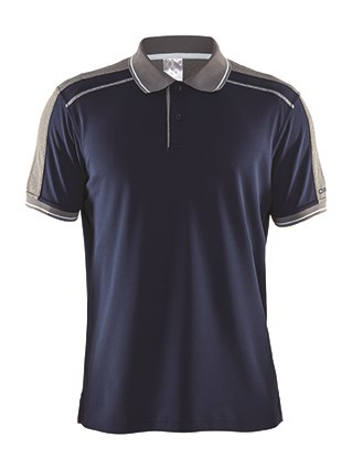Craft Noble polo pique shirt men navy/da.grey 4xl