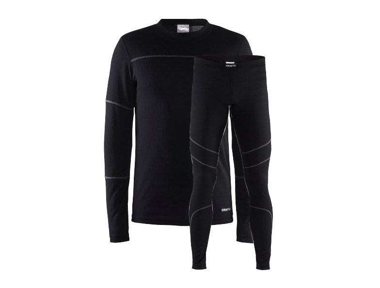 Craft Baselayer set men black/granit l