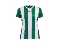 Craft Progress stripe jersey wmn green/white xs