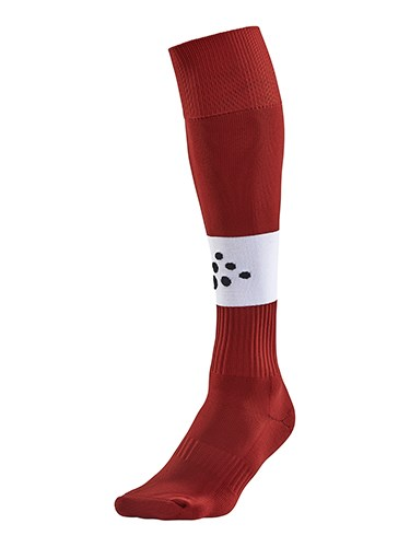 Craft Squad contrast sock br.red/white 31/33