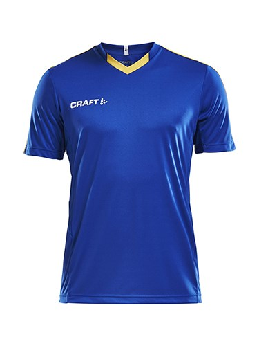 Craft Progress contrast jersey jr royal/Sw.yel 146/152