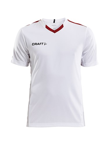 Craft Progress contrast jersey jr white/br.red 134/140
