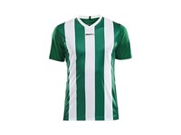 Craft Progress stripe jersey jr green/white 146/152