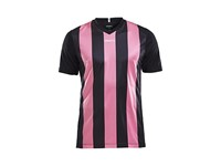 Craft Progress stripe jersey jr black/pop 158/164
