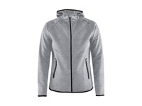 Craft Emotion full zip hood wmn grey melange l