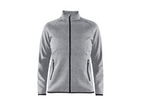Craft Emotion full zip jacket wmn grey melange xs