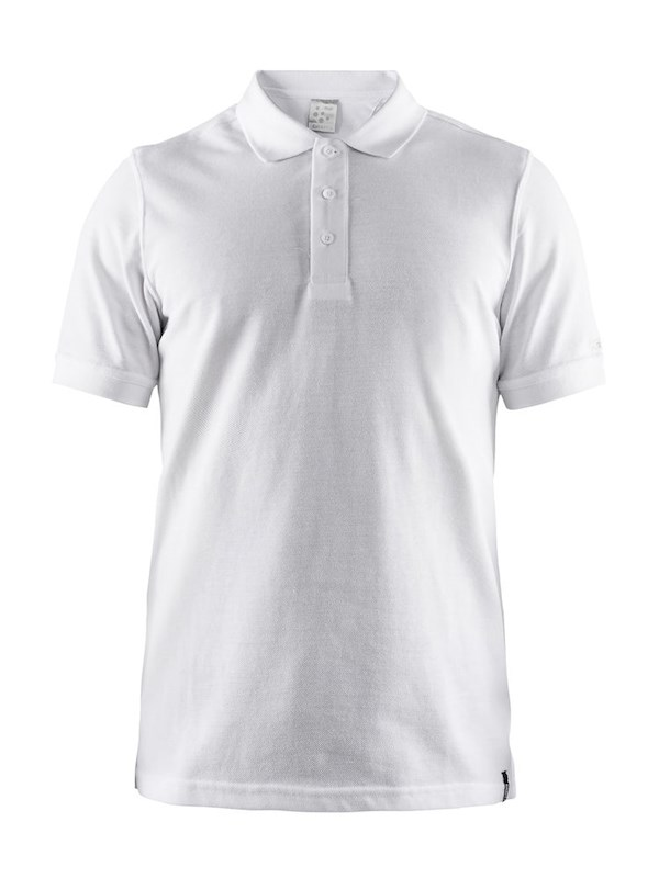 Craft Casual polo pique men white l
