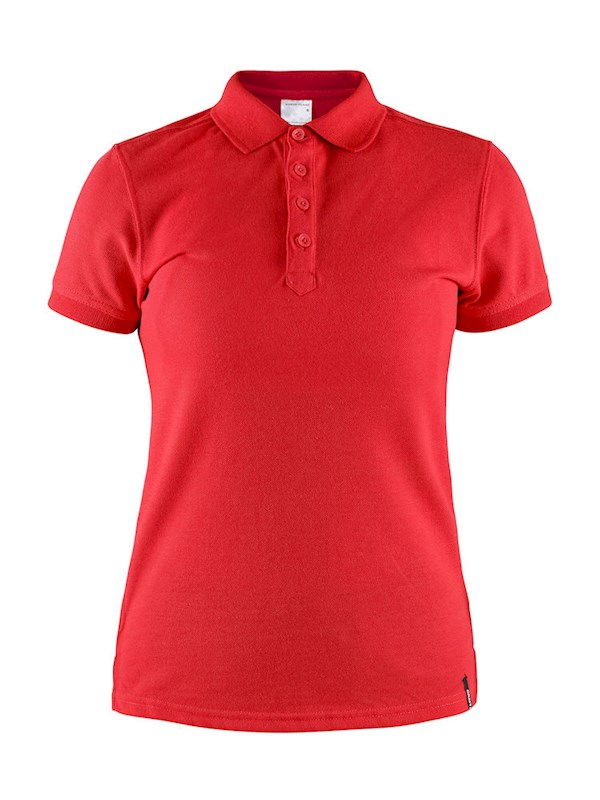 Craft Casual polo pique wmn bright red m