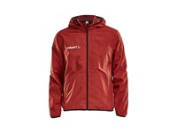 Craft Jacket rain jr br.red/black 122/128