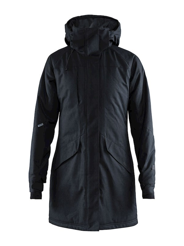 Craft Mountain padded parkas wmn black mel. xxl