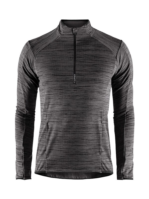 Craft Grid halfzip men black mel. xxl