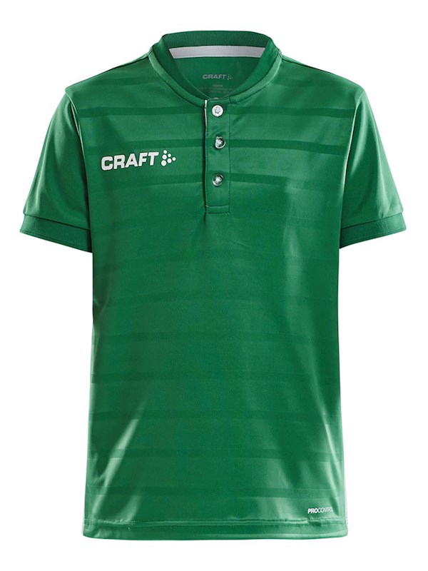 Craft Pro Control button jersey jr team gr/whi 146/152