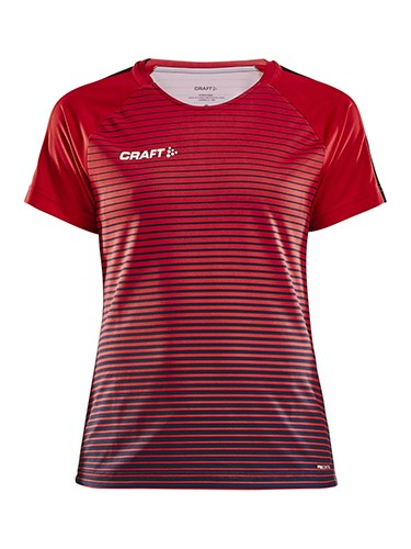 Craft Pro Control stripe jersey wmn br.red/navy xxl