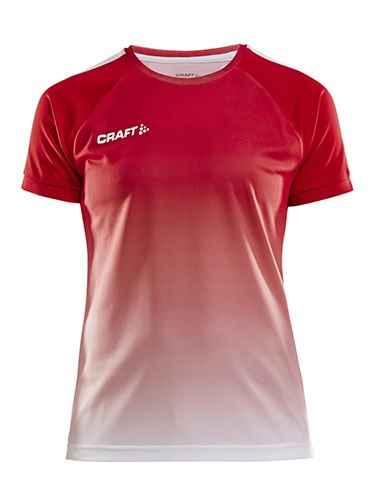 Craft Pro Control fade jersey wmn br.red/white l