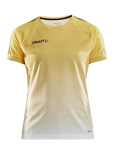 Craft Pro Control fade jersey wmn yellow/black xl